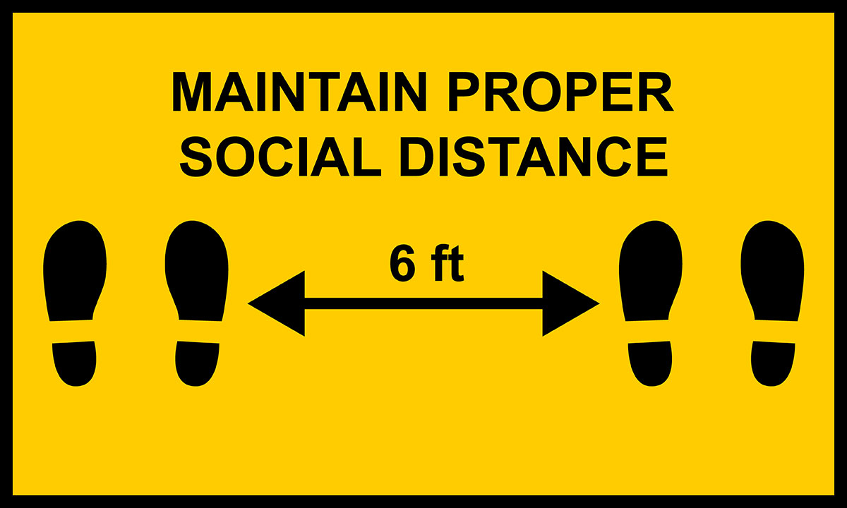 Property management - Maintain social distance