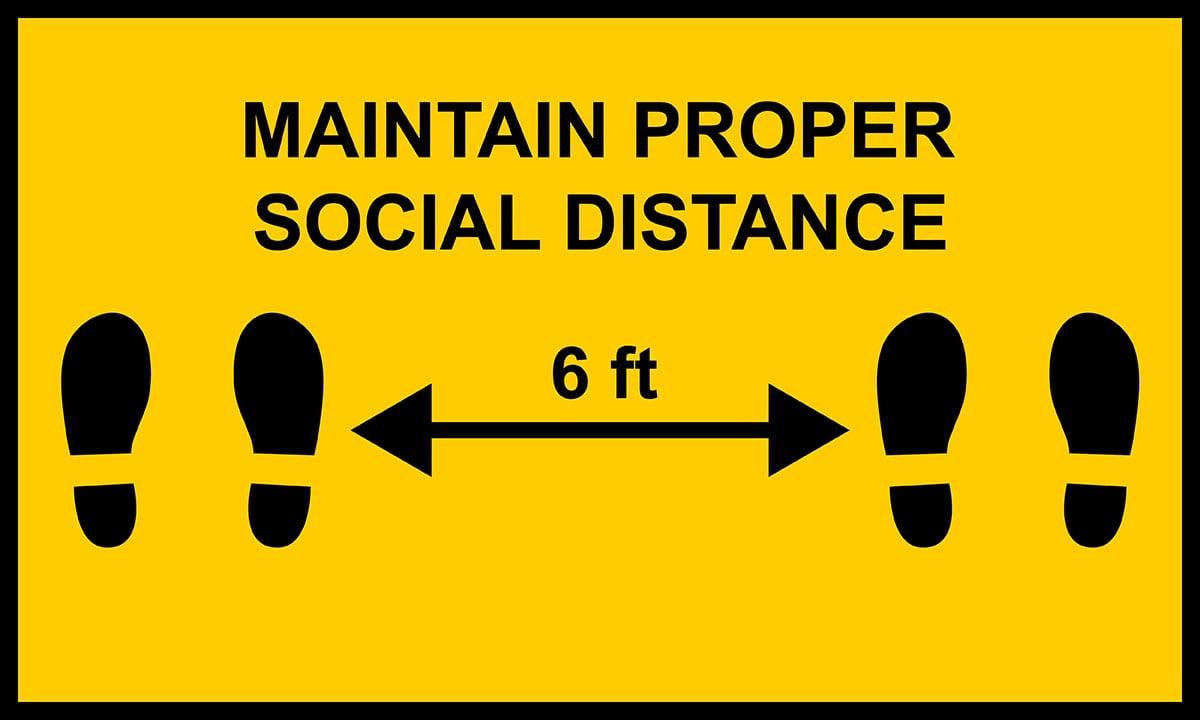 Property management - Maintain social distance